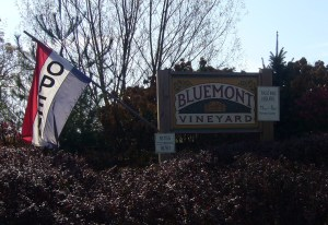 Bluemont Vineyard Entrance